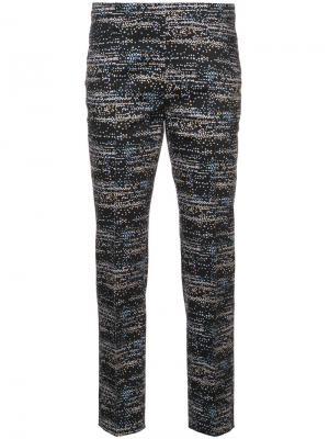 Укороченные брюки с узором Akris Punto. Цвет: чёрный