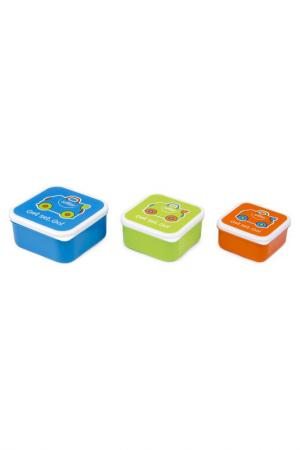 Контейнеры для еды, 3 шт. TRUNKI. Цвет: голубой