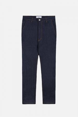 Широкие джинсы Ami Alexandre Mattiussi. Цвет: синий