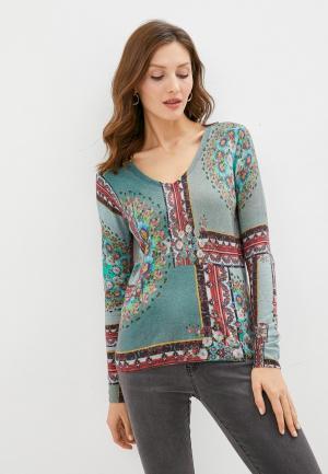Пуловер Desigual. Цвет: бирюзовый