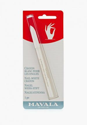 Карандаш для маникюра Mavala. Цвет: белый