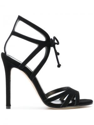 Tie fastened sandals Marc Ellis. Цвет: чёрный