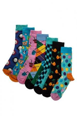 Комплект носков HAPPY SOCKS. Цвет: бирюзовый