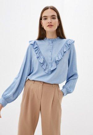 Блуза b.young. Цвет: голубой