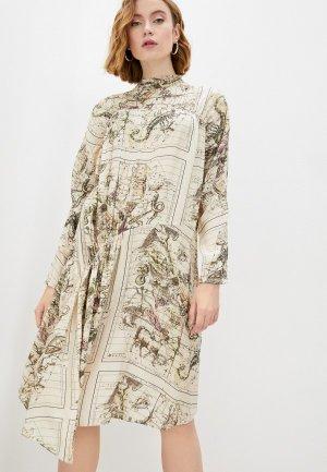 Платье By Malene Birger. Цвет: бежевый