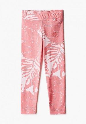 Леггинсы adidas. Цвет: розовый