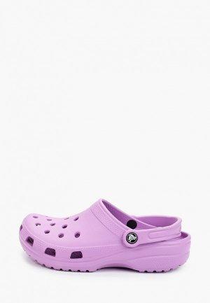 Сандалии Crocs. Цвет: фиолетовый