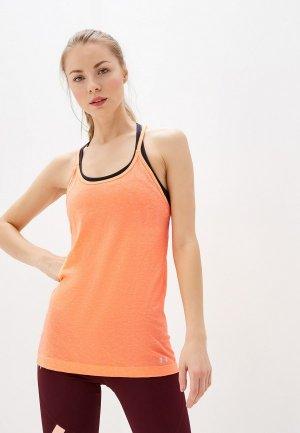 Майка спортивная Under Armour. Цвет: оранжевый