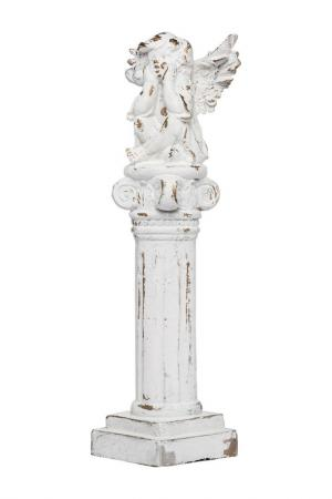 Фигура Ангел 19x18x62 см ГЛАСАР. Цвет: бежевый