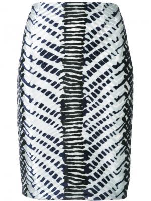 Herringbone high-waisted skirt Yigal Azrouel. Цвет: чёрный