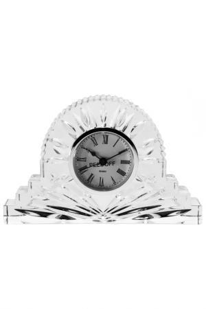 Часы, 19 см CRYSTAL BOHEMIA. Цвет: прозрачный