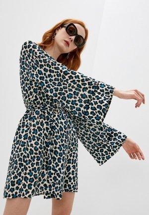 Платье пляжное Michael Kors. Цвет: бежевый