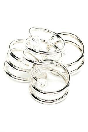 Кольца для салфеток, 4 шт MARQUIS. Цвет: серебряный