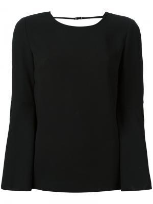 Блузка с открытой спиной Elizabeth And James. Цвет: чёрный