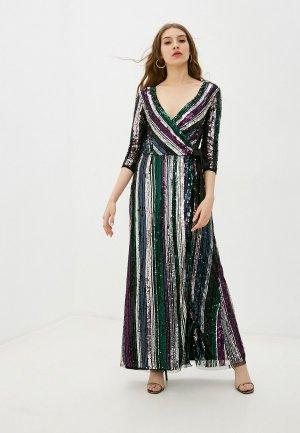 Платье Little Mistress. Цвет: разноцветный