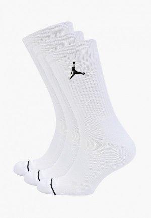Носки 3 пары Jordan. Цвет: белый