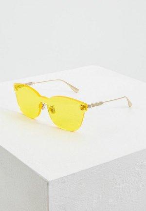 Очки солнцезащитные Christian Dior. Цвет: желтый