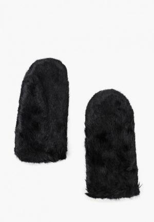 Варежки Pieces. Цвет: черный