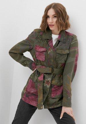 Куртка Desigual. Цвет: хаки