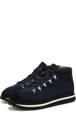 Замшевые ботинки на шнуровке Doucals Doucal's. Цвет: синий