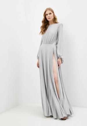 Платье Elisabetta Franchi. Цвет: серебряный
