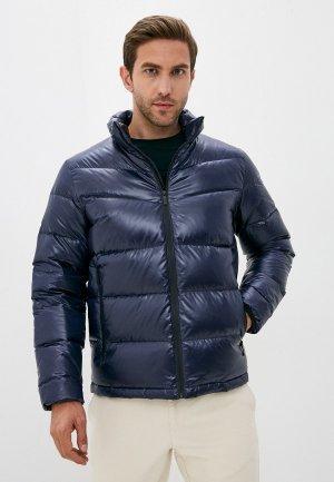 Пуховик Karl Lagerfeld. Цвет: синий