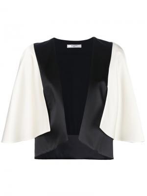 Двухцветный пиджак кроя кейп Lanvin. Цвет: белый