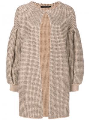 Пальто с драпировкой Antonino Valenti. Цвет: телесный