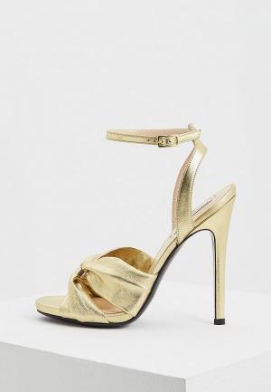 Босоножки John Galliano. Цвет: золотой