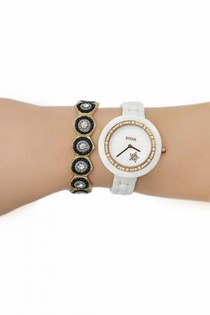 Набор: часы, браслет BORA. Цвет: золотой