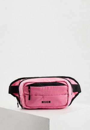 Сумка поясная MSGM. Цвет: розовый