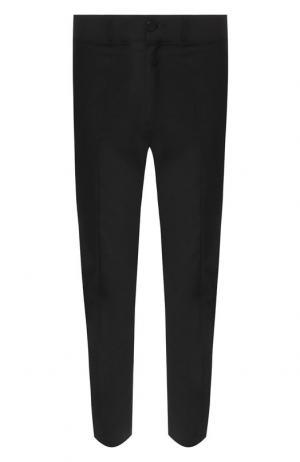 Укороченные шерстяные брюки прямого кроя Damir Doma. Цвет: черный