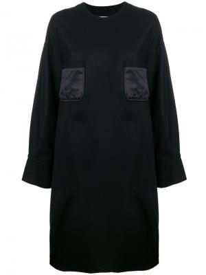 Платье-свитер свободного кроя Marios. Цвет: чёрный