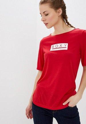 Футболка Roxy. Цвет: красный