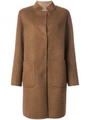 Однобортное пальто Manzoni 24. Цвет: коричневый