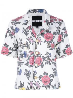 Рубашка с принтом роз House Of Holland. Цвет: многоцветный