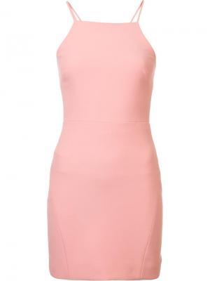 Платье с вырезной деталью Elizabeth And James. Цвет: розовый и фиолетовый