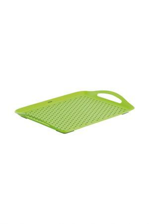 Поднос сервировочный NADOBA. Цвет: зеленый