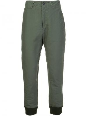 Брюки прямого кроя Engineered Garments. Цвет: зелёный