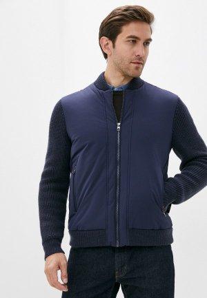 Куртка утепленная Lab. Pal Zileri. Цвет: синий