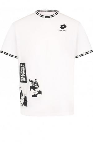 Хлопковая футболка с принтом  x Lotto Damir Doma. Цвет: белый