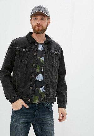 Куртка джинсовая Blend. Цвет: черный