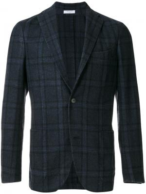 Клетчатый классический пиджак Boglioli. Цвет: синий
