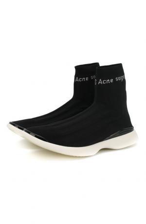 Текстильные кроссовки Acne Studios. Цвет: черно-белый