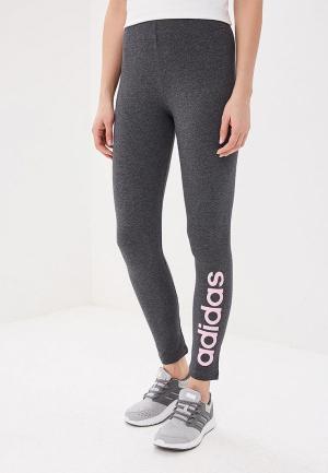 Леггинсы adidas. Цвет: серый
