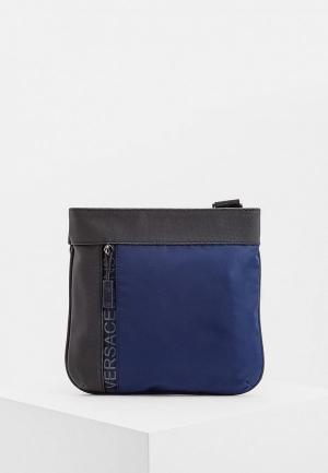 Сумка Versace Jeans. Цвет: синий