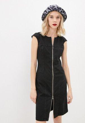 Платье джинсовое Karl Lagerfeld Denim. Цвет: черный
