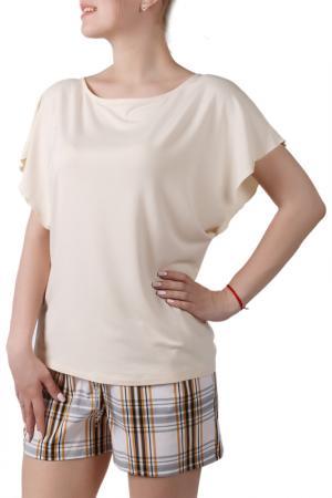 Пижамный комплект Sonett. Цвет: молочно-желтый