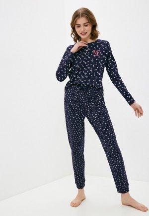 Пижама NYMOS. Цвет: синий