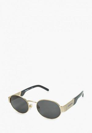 Очки солнцезащитные Arnette. Цвет: золотой